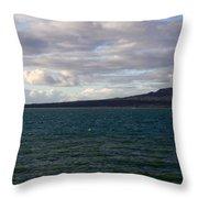 New Zealand - Vessel Departing Auckland Throw Pillow