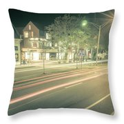Newport Rhode Island City Streets In The Evening Throw Pillow
