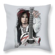 Nikki Sixx 4 Throw Pillow