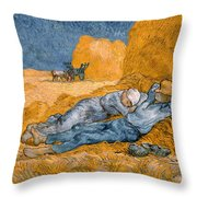 Noon Rest From Work Throw Pillow
