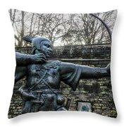 Nottingham England United Kingdom Uk Throw Pillow