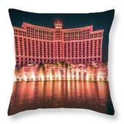 November 2017 Las Vegas Nevada - Scenes Around Bellagio Resort H Throw Pillow