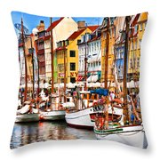 Nyhavn Throw Pillow