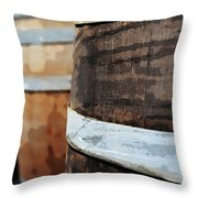 Oak Wine Barrel Throw Pillow