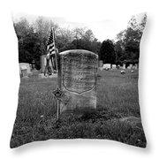 Odd Fellows Cemetery Throw Pillow