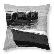 Old San Juan Puerto Rico Local Boats Throw Pillow
