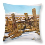3 Olds Posts 3 Throw Pillow