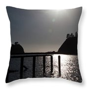 Olympic Peninsula Coast Throw Pillow