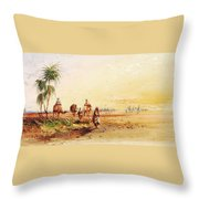 On The Road To Thebes Throw Pillow
