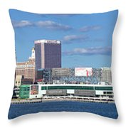 Panoramic View Of Atlantic City, New Jersey Throw Pillow