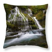 Panther Creek Falls Throw Pillow