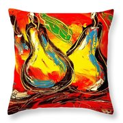Pears Throw Pillow
