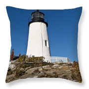 Pemaquid Point Light Throw Pillow