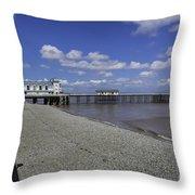 Penarth Pier 3 Throw Pillow