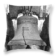 Philadelphia: Liberty Bell Throw Pillow