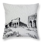 Pioneer Ghost Town Montana Throw Pillow