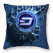 Pixel Dash Concept Throw Pillow