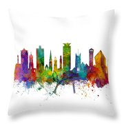 Plymouth England Skyline Throw Pillow