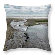 Plymouth, Massachusetts, Beach Throw Pillow