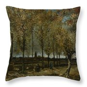 Poplars Near Nuenen Throw Pillow