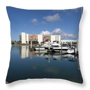 Port Canaveral Florida Usa Throw Pillow