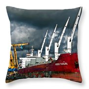 Port Of Amsterdam Throw Pillow