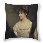 Portrait Of Jane Frere Throw Pillow