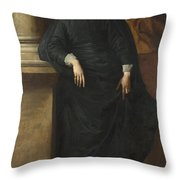 Portrait Of The Abbe Scaglia Throw Pillow
