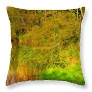 Q Landscape Throw Pillow