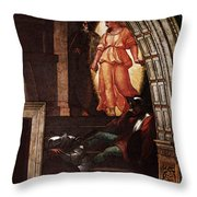 Raphael The Liberation Of St Peter  Throw Pillow