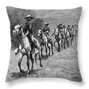 Remington: 10th Cavalry Throw Pillow by Granger
