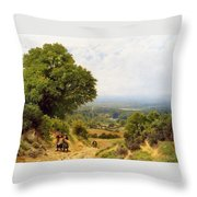 Returning From The Harvest Throw Pillow