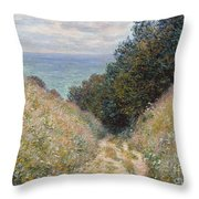 Road At La Cavee. Pourville Throw Pillow