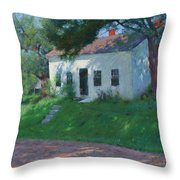 Roadside Cottage Throw Pillow