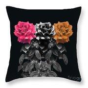 3 Roses Throw Pillow