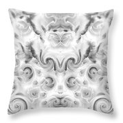 Roses Tapestry And Curls Throw Pillow