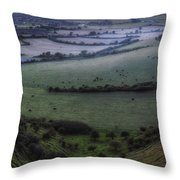 Roundway Hill - England Throw Pillow