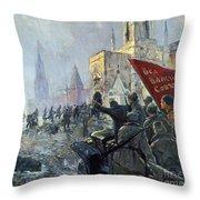 Russian Revolution, 1917 Throw Pillow