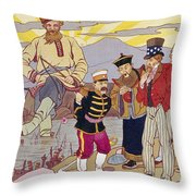 Russo-japanese War, C1905 Throw Pillow