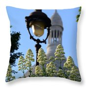 Sacre Coeur  Throw Pillow by Riad Belhimer