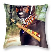 Samburu Warrior Throw Pillow