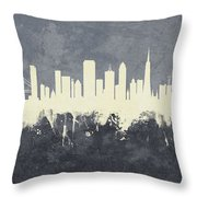 San Francisco California Skyline Throw Pillow