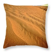 Sand Dune At Great Sand Hills In Scenic Saskatchewan Throw Pillow