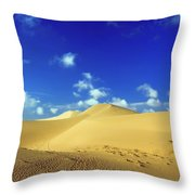 Sandy Desert Throw Pillow by MotHaiBaPhoto Prints