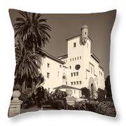 Santa Barbara County Courthouse Throw Pillow