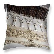 Santa Maria La Blanca Synagogue - Toledo Spain Throw Pillow