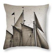 Schooner Pride Tall Ship Charleston Sc Throw Pillow