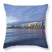 Seattle Skyline Cityscape Throw Pillow