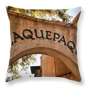 Sedona Tlaquepaque Shopping Center Throw Pillow