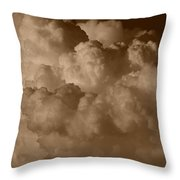 Sepia Clouds Throw Pillow